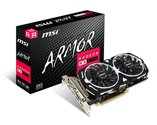MSI AMD Radeon RX 570 Armor 8G Fan FH PCI Express Graphics Card - Black