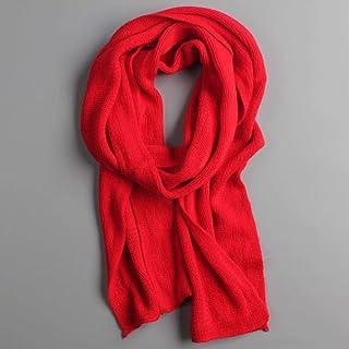 LASISZ /Écharpes en Cachemire pour Femmes Hommes /épais Hiver Chaud Poncho Laine de Pashmina Femelle Longue /écharpe dhiver ch/âle /étole Rouge 200x70cm