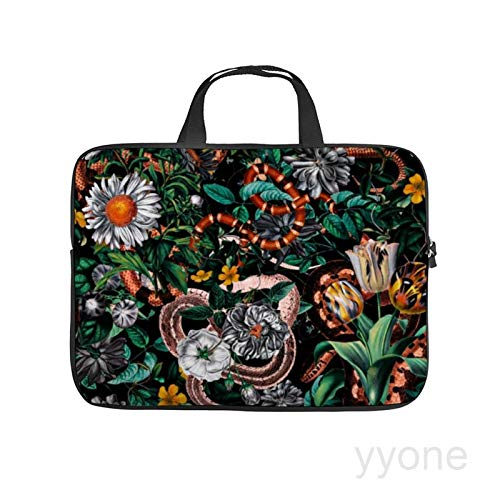 Neoprene Sleeve Laptop Handle Bag Handbag Notebook Case,Dangers in the forest,HOUSE PLANTS Portable MacBook Laptop/Ultrabooks Case Bag Cover 15 Inch