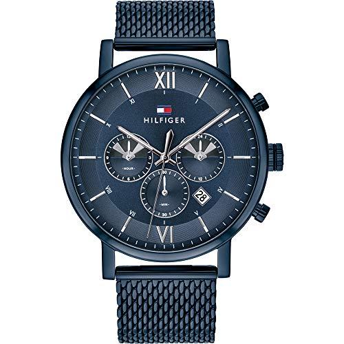 Tommy Hilfiger Herren Analoger Quarz Uhr mit Edelstahl Armband 1710397