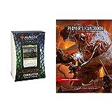 Bundle of 1 AFR Aura of Courage MTG Commander Deck + 1 Dungeons & Dragons Player's Handbook (D&D Core Rulebook)