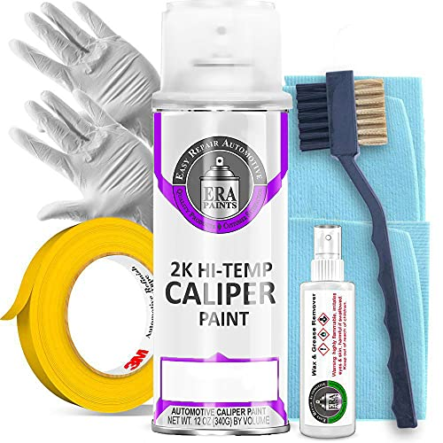 ERA Paints Purple Brake Caliper Paint Kit With Omni-Curing Catalyst Technology - 2K Aerosol Glossy Finish High Temp Resistance And Extreme Durability Against Color Fade And Chemicals Like Brake Fluid
