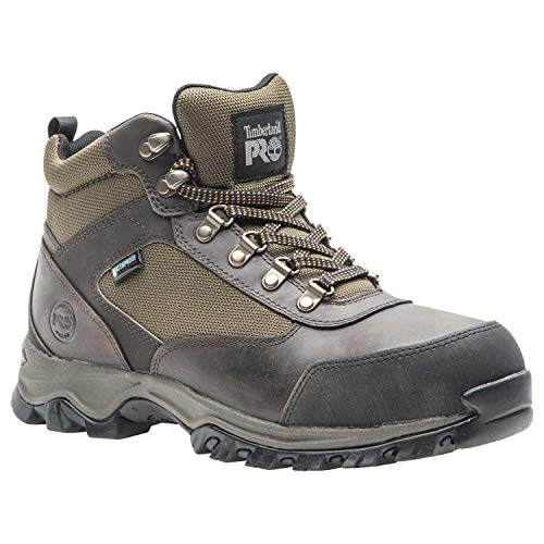 Timberland PRO Men's Keele Ridge Steel Toe Waterproof Industrial Boot, Brown, 10 M US