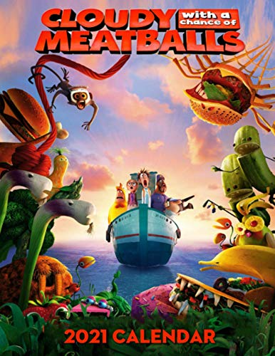 Cloudy with a Chance of Meatballs 2021 Calendar: 2021 Calendar- 8.5' x 11',2021 Monthly Calendar Perfect for School, Office & Home Planning and Organizing