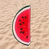 Toalla de Playa Microfibra Forma de Sandia - Diseño Innovador, Fresco, Tentador y Divertido de una Sandia   151x69 cm
