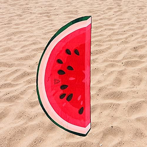 Toalla de Playa Microfibra Forma de Sandia - Diseño Innovador, Fresco, Tentador y Divertido de una Sandia | 151x69 cm