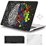 iCasso MacBook Air 13 inch Case 2020 2019 2018 Release A2337M1/ A1932/A2179, Hard Shell Case Protective Cover and Keyboard Cover Compatible Newest MacBook Air 13'' with Touch ID Retina Display - Brain