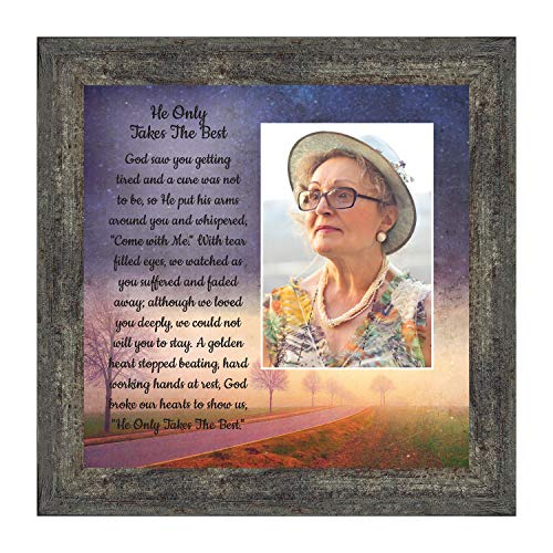 Memorial Picture Frame, Sympathy Gifts for Loss of Mother, Loss of Father Gift, Bereavement Gifts for Sympathy Gift Baskets or Condolence Card, Photo Frame In Memory of Loved One, 6385BW