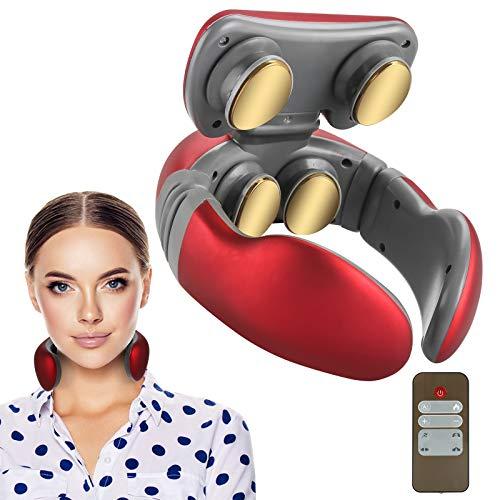 Komake Massaggiatore Cervicale, massaggio collo intelligente con calore, impulsi riscaldanti per alleviare il dolore al collo elettrico intelligente portatile Relax, per ufficio a casa