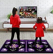 DDDF Durable Wear-Resistant Dancing Mat Step Dance Blanket Wireless Double Running Blanket Wireless Dance Blanket Somatosensory Game with Yoga Sport Machion