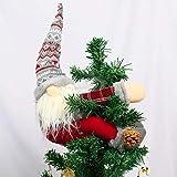 KINNJAS Christmas Tree Topper Gnome - Hand Made Gnome Christmas Decoration, Funny...