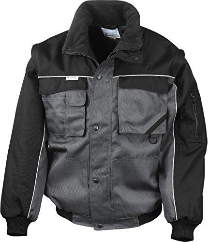 Result Ergebnis re71a Work-Guard Zip Sleeve schwere Pilot Jacke Medium grau/schwarz