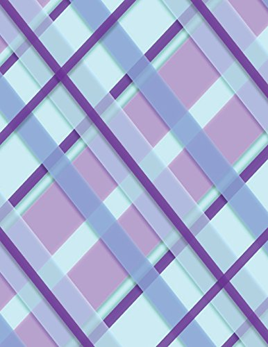 Purple Plaid Notebook: Dot Grid Notebook Journal 8.5 x 11 202 Pages