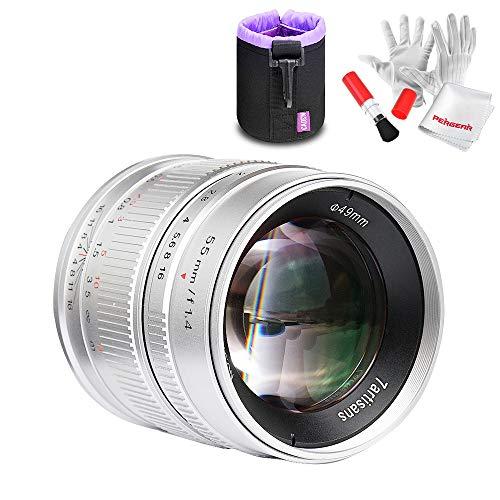 Objetivo 7artisans 55mm F1.4 para Fuji X Mount cámaras X-A1 x-a10 X-A2 x-a3 x-at X-M1 X-T1 X-T10 x-t2 XM2 X-Pro2 x-t20 X-Pro1 X-E1 X-E2 X-E2s (Silver)