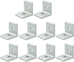 TOUHIA 30x30 with Slot 6mm 2 Hole Inside Corner Bracket for 3030 Aluminum Extrusion Profile (10Pcs)