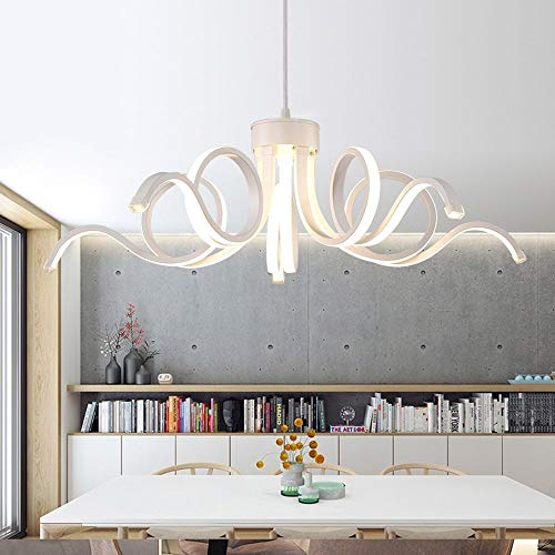 Liunce 65W LED Hanging Light Lamp Modern Pendant Light Lighting Novelty Lustre Light Fixture for Bedroom Living Room Luminaria Indoor Chandelier (Color : 6000K White Light)