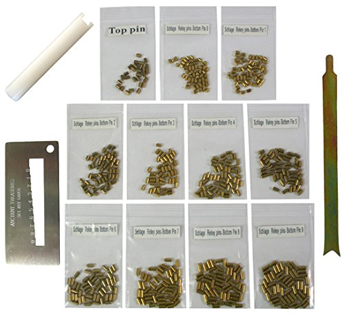 SC Compatible Keyway Re-Key Kit Bottom Pins #0 to #9 with 50 of Each pin...