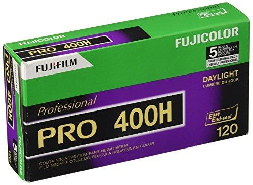 Fujifilm Fujicolor PRO 400H, Pellicola a Colore Formato 120, Confezione da 5 Rullini