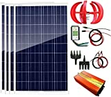 Turbina de Viento, 700W 12V Energía Eólica Solar: 1pcs panel...