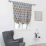 GugeABC Coloridas cortinas opacas, maletas temáticas de viaje con diseño de avión Eiffel simplista y corazón...