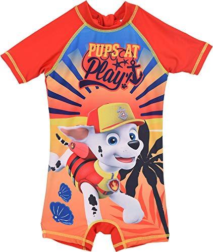 PAW Patrol badpak met UV-bescherming 50+ voor kinderen 3 4 5 6 jaar 98 104 110 116 oranje