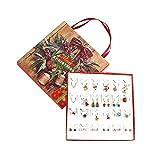 JIESD-Z - Calendario dell'Avvento di Natale, gioielli fai da te, collana, orecchini, calendario, conto alla rovescia, 22 gioielli, regalo per ragazze, ragazzi, bambini