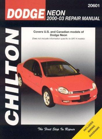 Dodge Neon 2000-2003 Repair Manual: Covers U.S. and Canadian Models of Dodge Neon