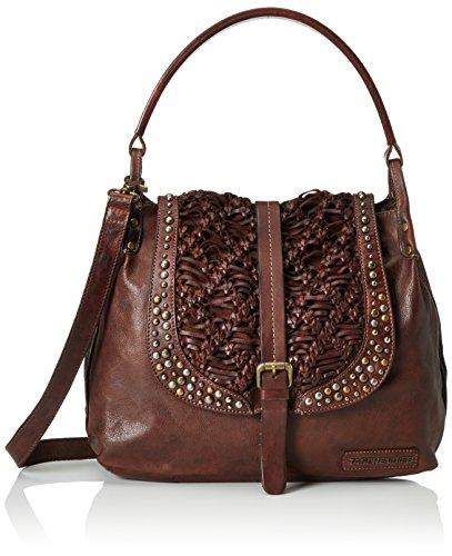 Taschendieb Damen TD0701 Henkeltaschen, Braun (schoko), 41x27x11 cm