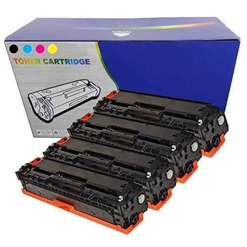 Juego de 126A non OEM Cartuchos para HP color LaserJet CP1025, Cp1025NW, M175A, 100, 175A, M275, M275NW–CE310–3/126A non OEM Compatible de repuesto
