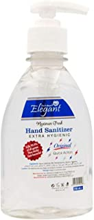 Elegant Hand Sanitizer Gel – 250ml Clear – 70% IPA – Advanced Germ Protection – Moisturizers & Vitamin E