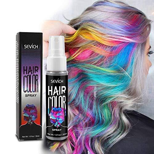 Haarkreide 5 Farben Colorful Auswaschbar Waxy Glitter Farbige Natürliche Haare Kreide Kreide Kugelschreiber Non-Toxic Metallic Glitter temporäre Haarfarbe (Rot)