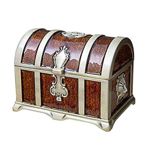 VEED Vintage Pirate Treasure Chest Gift Storage Case Necklace Antique Retro Box