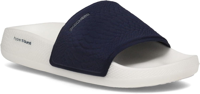 Skechers Women's, Hyper Slide - Wild Side Sandal Navy 7 M