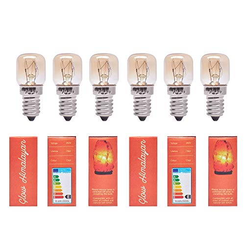 6 Pack 15W Bulb for Himalayan Salt Lamps, Dimmable E14 Socket. Original...