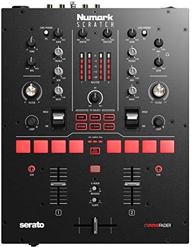 Numark Scratch - Zweikanal DJ Scratch Mixer mit Serato DJ Pro, mit Innofader Crossfader, DVS-Lizenz, 6 Direktzugriffseffektwählern, Performance-Pads und 24-Bit-Klangqualität
