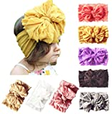 Baby Girl Nylon Headbands Newborn Infant Toddler Bow Hairbands Soft Headwrap Children Hair Accessories (8PACK-RED/YELLOW/PURPLE)