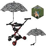 Kinderwagen Regenschirm, Kinderwagen Sonnenschirm, Verstellbarer Kinderwagen Sonnenschirm, 78 cm Universal Sonnenschirm für Kinderwagen 50+ UV Sonnenschutz, für Kinderwagen, Babywagen