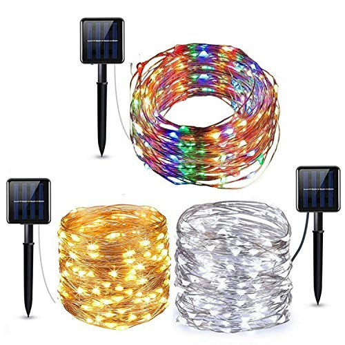 vlogdeals Led Solar Power Fairy Light String Lamp Party Christmas Xmas Decor Garden Outdoor (10M 100LED, Mutil-Color)