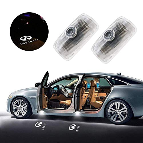 Aukur 2-pc Set Car LED Door Logo Projector Ghost Shadow Lights Direct Replacement Welcome Lamp for Infiniti Q50 Q70 QX70 QX50 EX FX G M Series