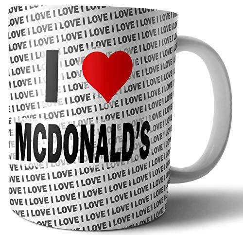 Ik hou van McDonald's - Thee - Koffie - Mok - Beker - Verjaardag - Kerstmis - Gift