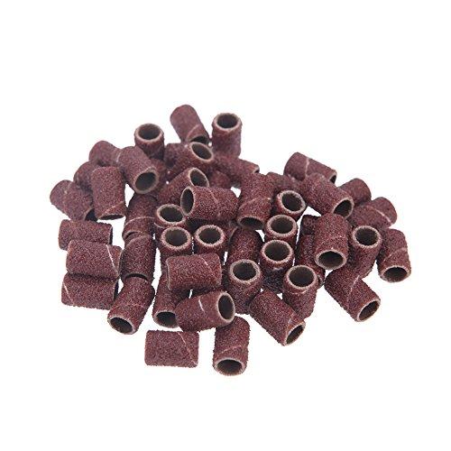 Anself 150pcs/Pack Schleifhülsen Schleifkappen Sanding Bands für Maniküre Pediküre Nagel Bohrmaschine Maschine 80# 120# 180# jeder Größe 50Stk