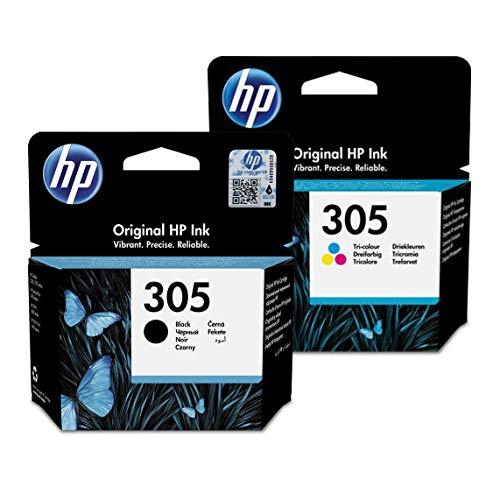 HP Original 305 Druckerpatronen 2er Pack 1x schwarz + 1x farbig (3YM60AE+3YM61AE)