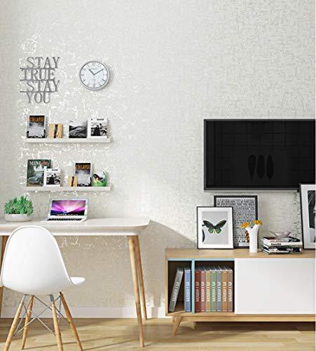 Vliestapete - Reines Schlichtes Weiß,9.5x0.53m Tapete für Moderne Einfachheit Wohnzimmer Schlafzimmer TV Hintergrund Kinderzimmer Umweltschutz Deko