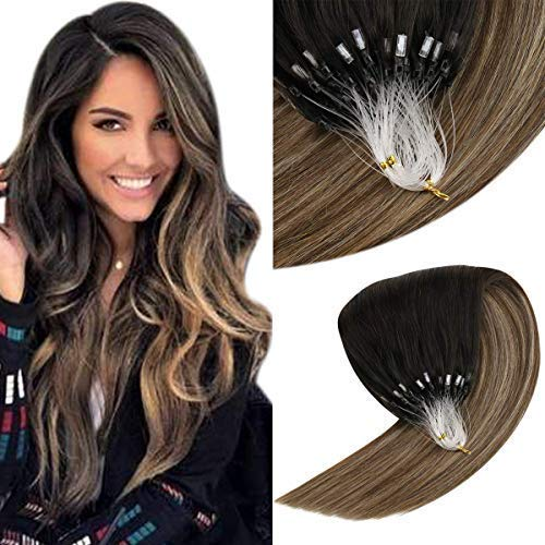 VeSunny Ombre Micro Loop Remy Human Hair Extensions