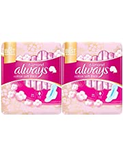 ALWAYS Diamond Maxi Thick, Large sanitary pads with wings, 48 ct