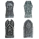 Toyvian Pietra tombale in schiuma per Halloween, 4 pezzi