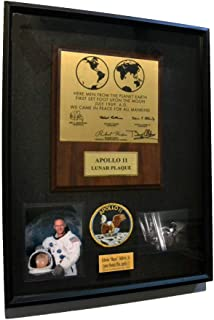 Rare BUZZ ALDRIN signed Apollo 11 Moon Landing PLAQUE Autographed Display, UACC, AP wire, Crew patch, photos, Smithsonian artifacts, DVD, more!