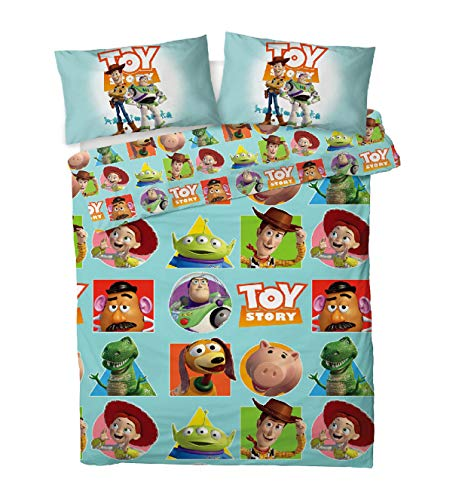 Disney Toy Story 4 Double Duvet Cover Bedding Set With Matching Pillow Cases – Featuring Woody & Buzz (Toy Story Patch, Double)