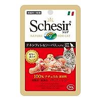 シシア (Schesir) キャット パウチ チキン&シーバス(スズキ) 50g×30個