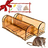 Humane Smart No Kill Mouse Trap, Cruelty Free Live Catch and Release, Easy to Set for Small Rodents such as Mouse Mice Vole Mole Chipmunk, Reusable for Kitchen Garden Storage Garage